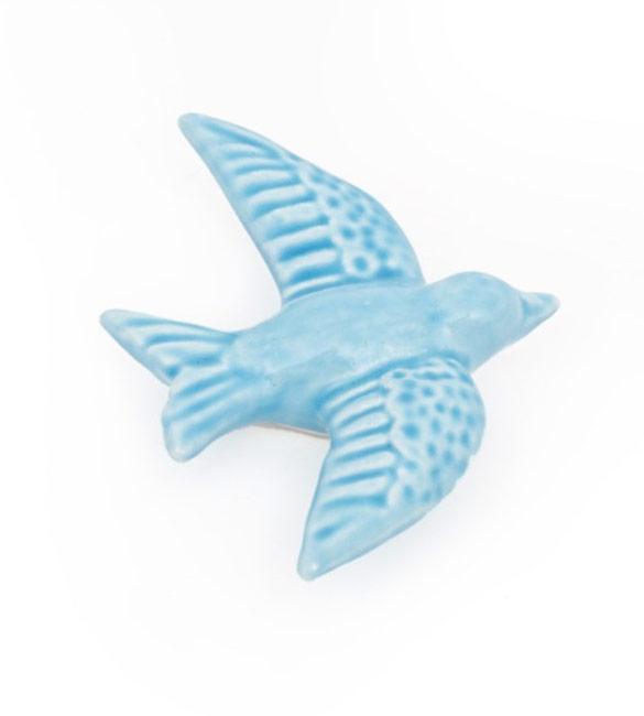 Andorinha em Cerâmica Azul Claro