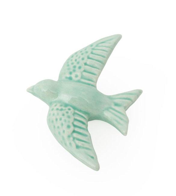 Andorinha em Cerâmica Verde Agua