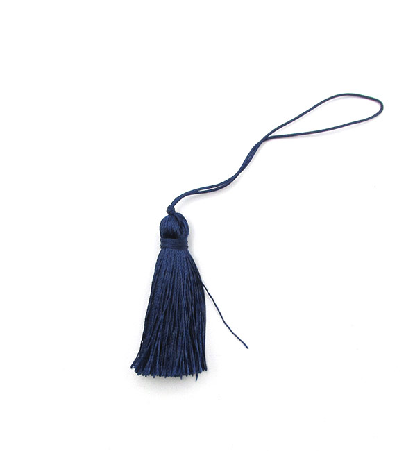Franja / borla azul escuro 5cm