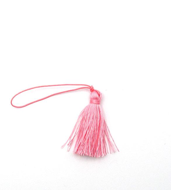 Franja / borla rosa 5cm