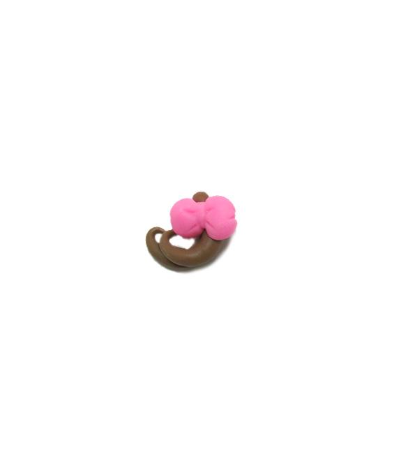 Cabelinho com laço rosa