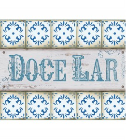 Placa Decorativa Doce Lar
