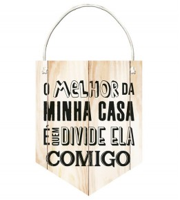Placa Decorativa Frase Casa