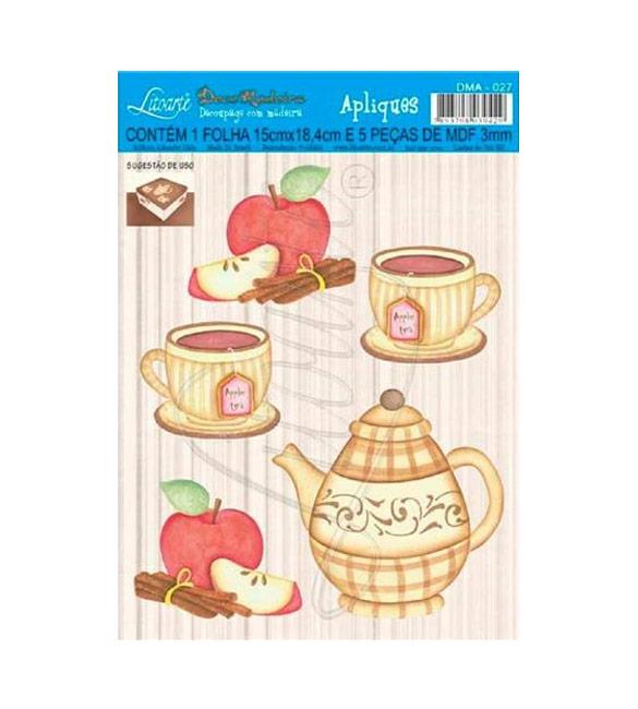 Apliques Decorativos Mdf Decoupage Chá