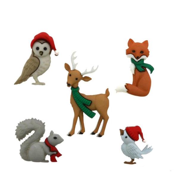 Botões Animais de Natal