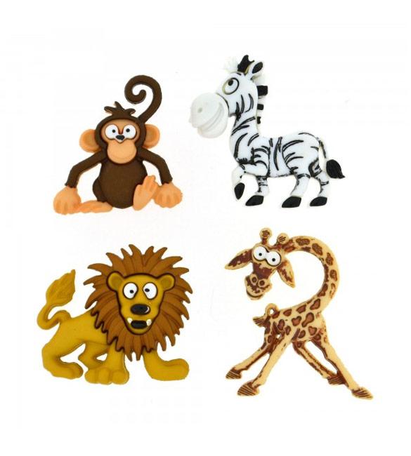 Botões Animais Engraçados