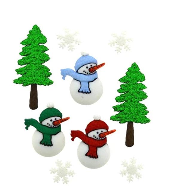 Botões bonecos de neve
