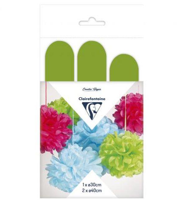 Flores de papel verdes