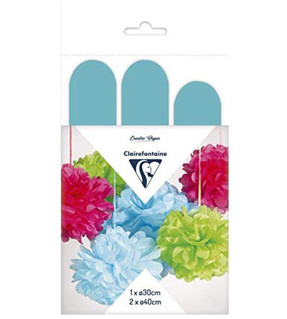 Flores de papel azuis