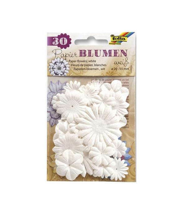 Flores de papel brancas