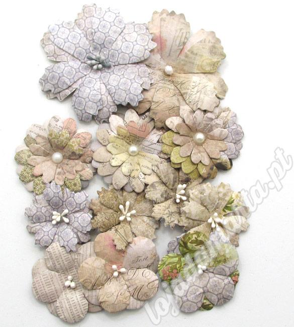Flores de papel pack de 12