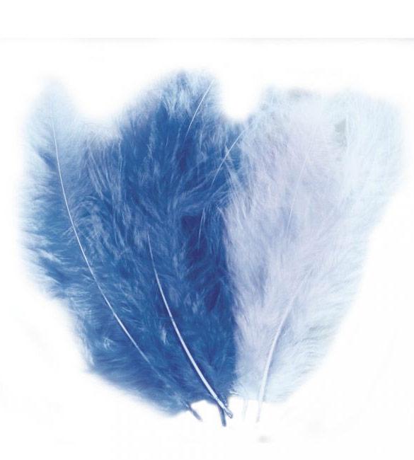 Mistura de Plumas Azuis