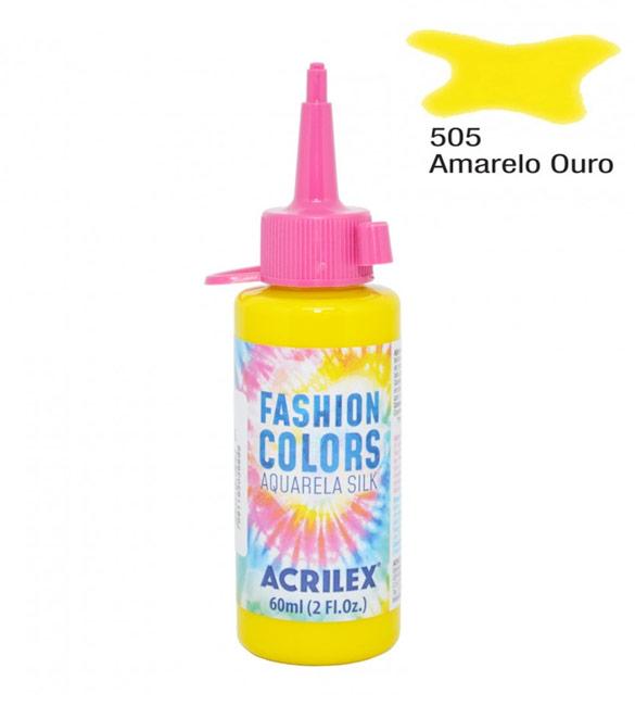 Aquarela Silk Acrilex 60ml Amarelo Ouro 505