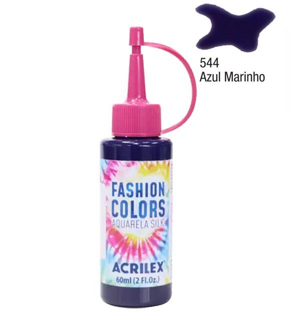 Aquarela Silk Acrilex 60ml Azul Marinho 544
