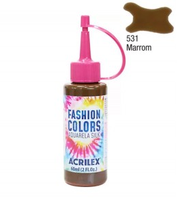 Aquarela Silk Acrilex 60ml Marrom 531