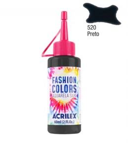 Aquarela Silk Acrilex 60ml Preto 520