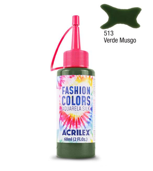 Aquarela Silk Acrilex 60ml Verde Musgo 513