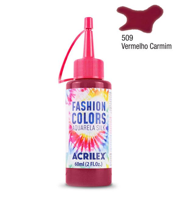 Aquarela Silk Acrilex 60ml Vermelho Carmim 509