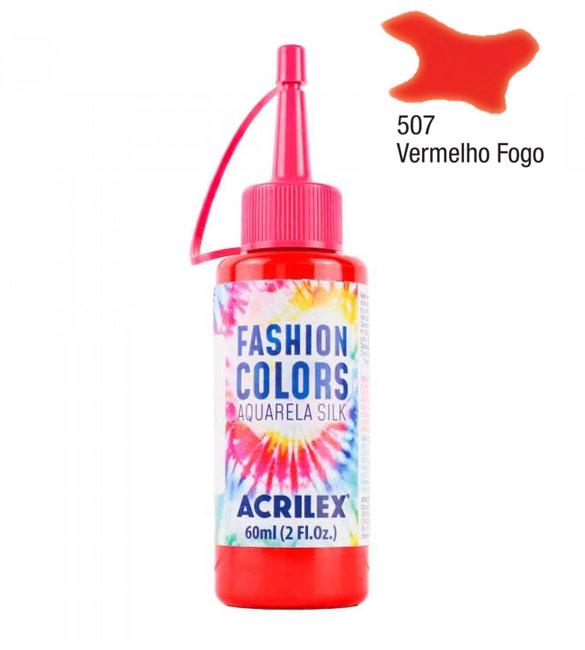 Aquarela Silk Acrilex 60ml Vermelho Fogo 507