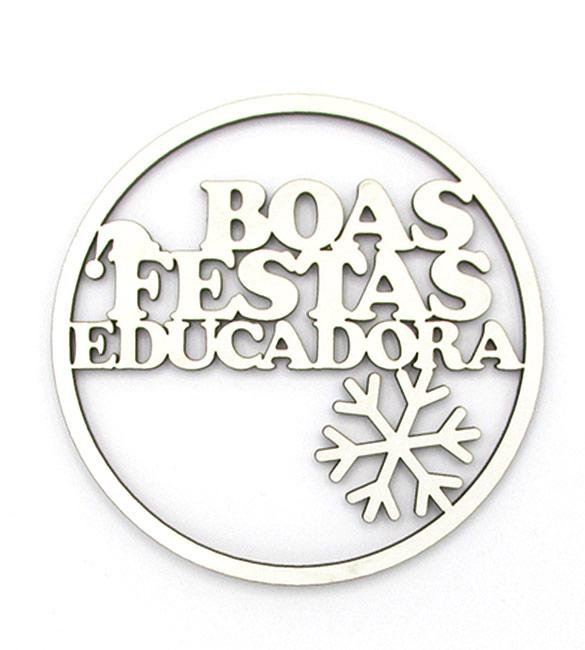 Aro Boas Festas Educadora 10cm