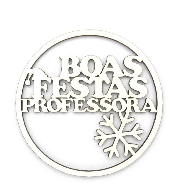 Aro Boas Festas Professora10cm