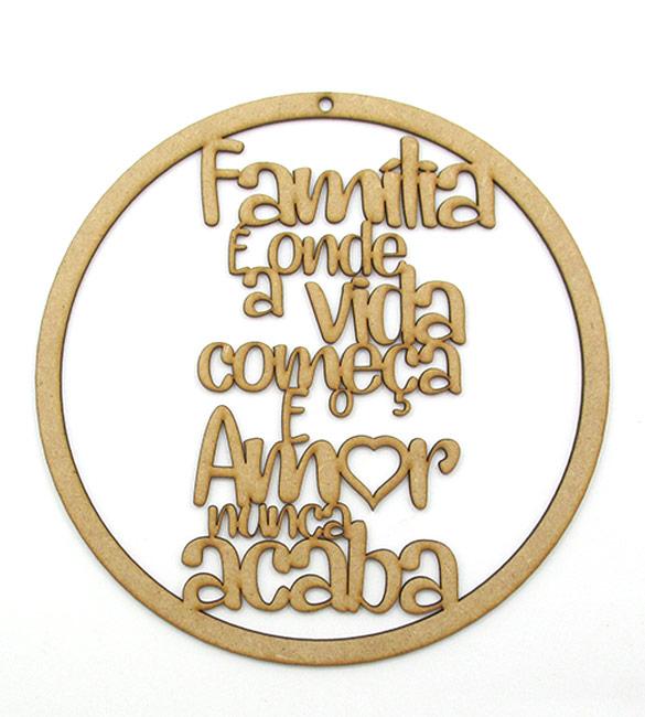 Aro em MDF - Família