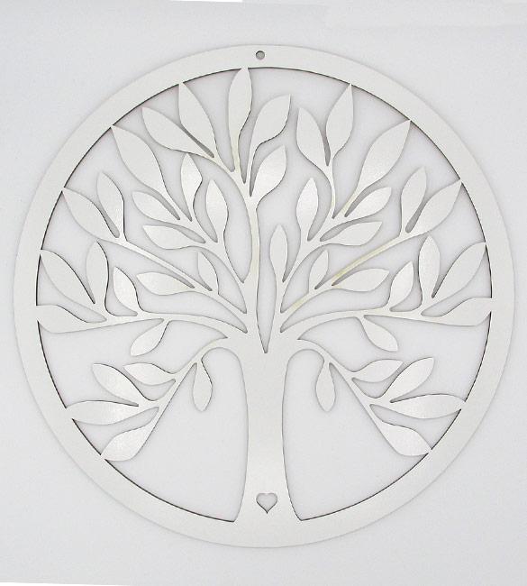 Aro Caça Sonhos Arvore da vida 30cm Branco