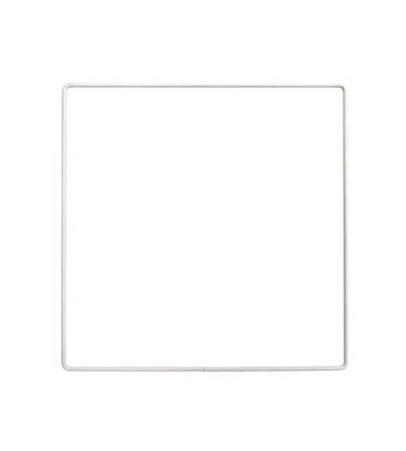 Aro Metálico Quadrado Branco 10cm