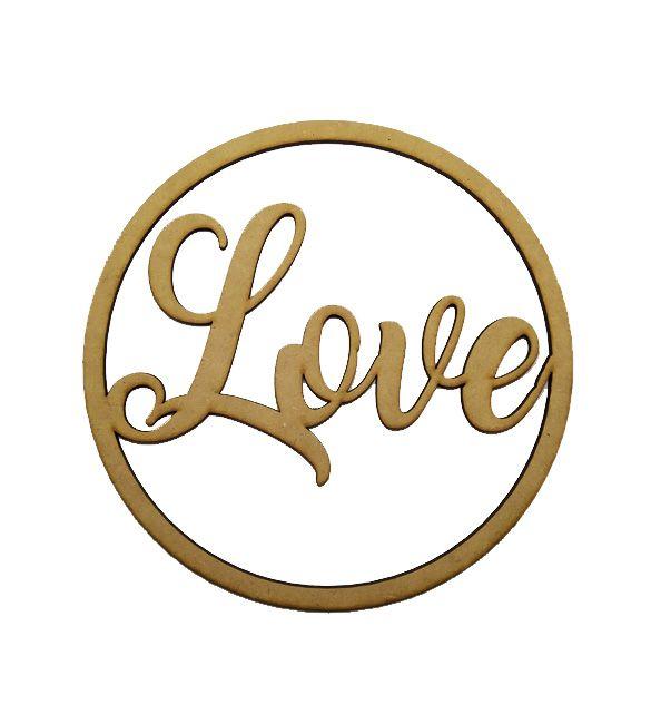 Aro mdf Palavra Love