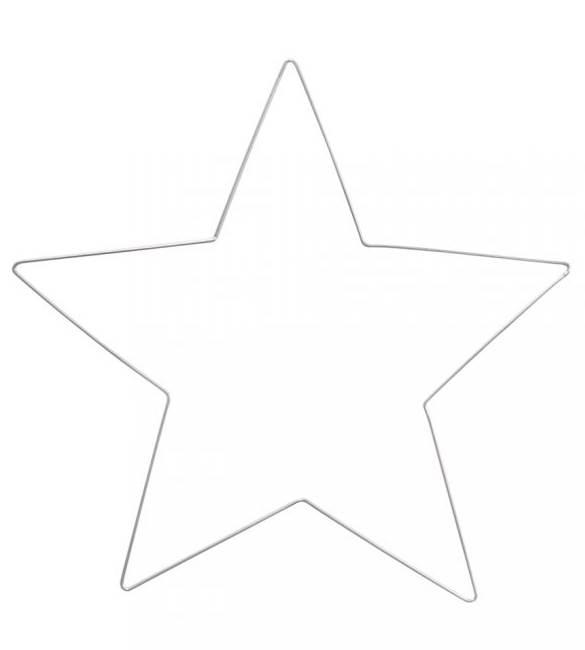 Estrela Metálica em Prata 30cm
