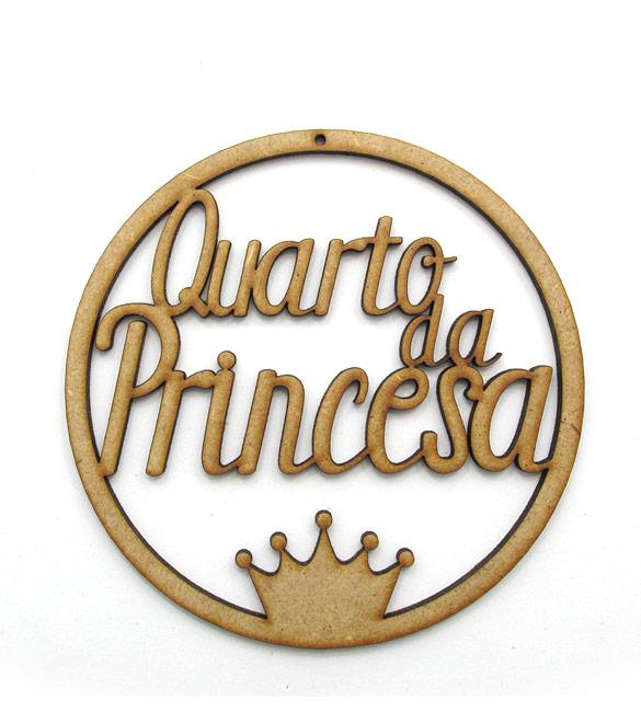 Aro em mdf Quarto da Princesa Ø22cm