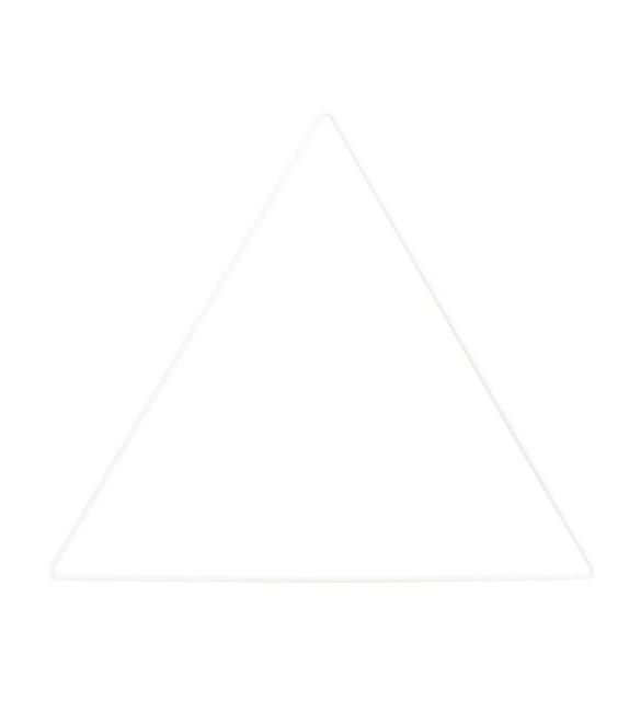 Triangulo Metálico Branco 20cm