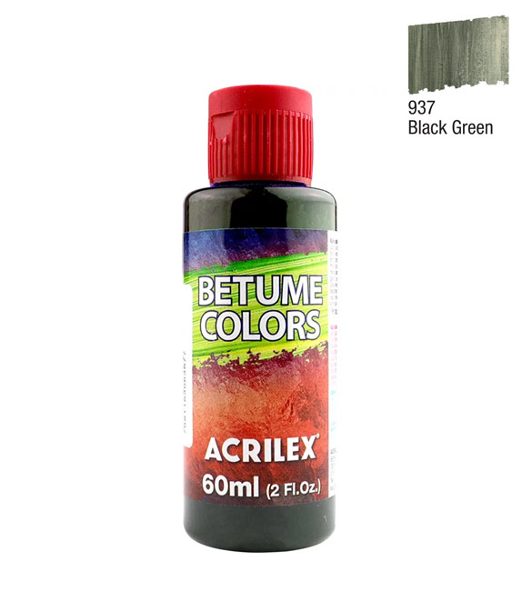 Betume Colors Acrilex Black Green