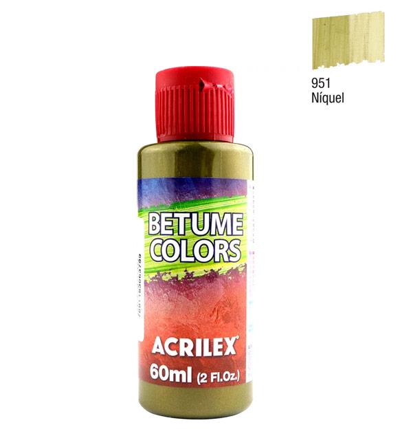 Betume Colors Acrilex Niquel