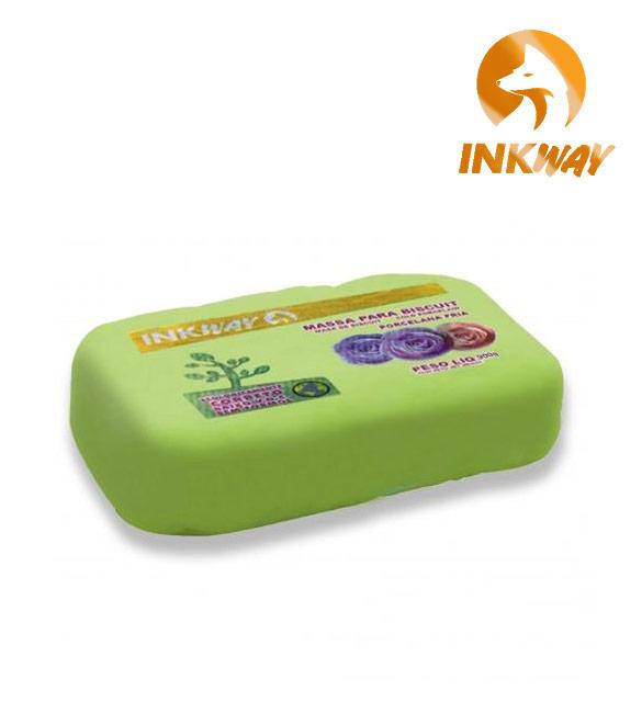 Massa Biscuit Verde Folha InkWay - 85g