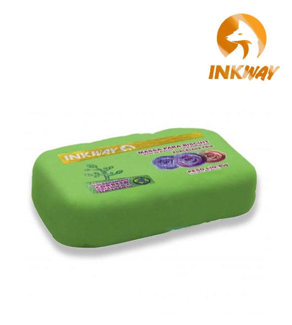 Massa Biscuit Verde Musgo InkWay - 85g