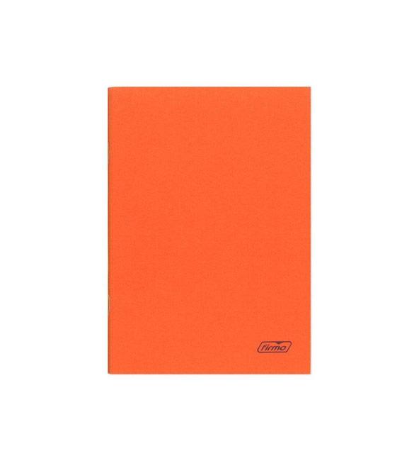 Caderno xadrez A4 de capa laranja