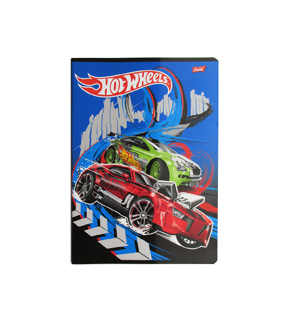 Caderno Hot Wheels pautado A4
