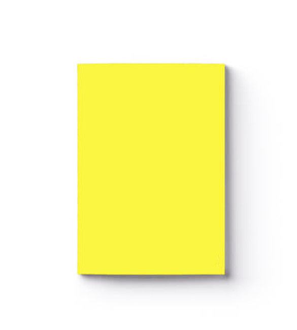 Caderno pautado A4 de capa amarela