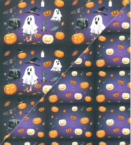 Cartolina Fantasia Dupla Face - Halloween