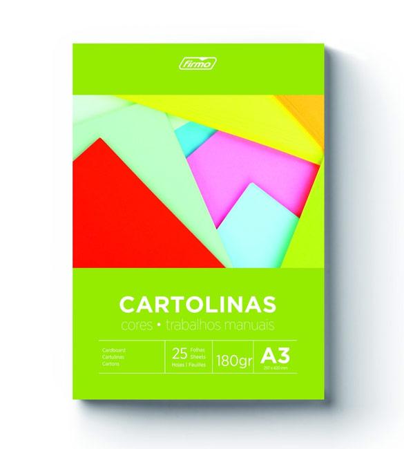 Bloco de Cartolinas A3 180g cores suaves