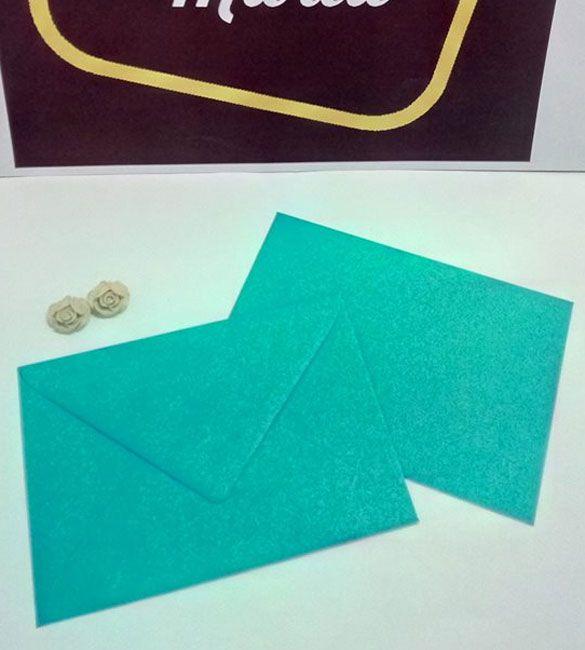 Envelope C6 azul turquesa