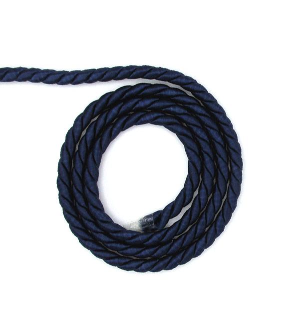 Cordão de Seda Azul Marinho 5mm