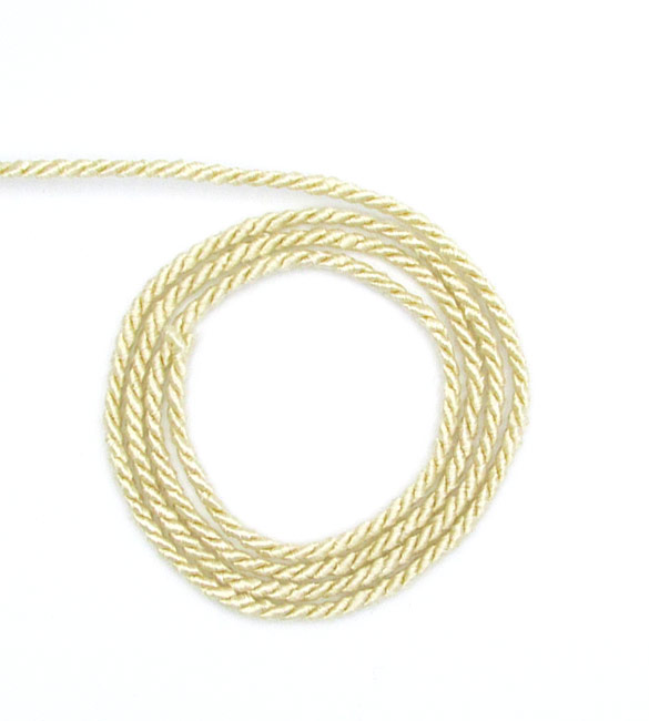 Cordão de Seda Bege 2mm