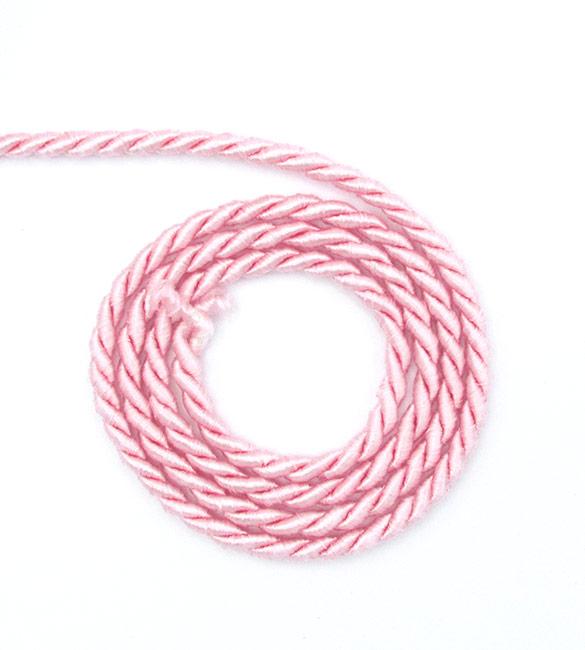 Cordão de Seda Rosa Claro 5mm