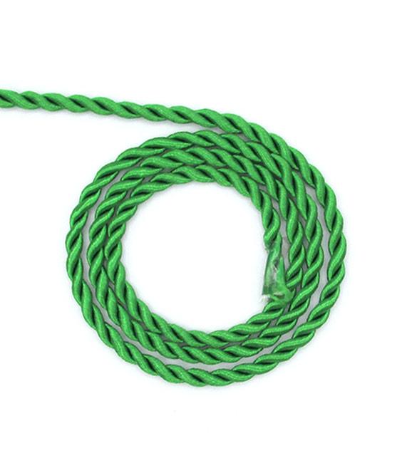 Cordão de Seda Verde 5mm