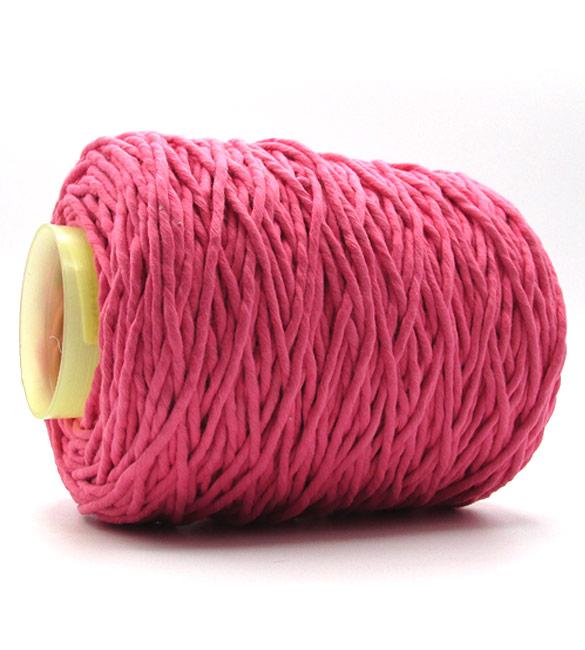 Fio torcido barbante para macramé - Rosa Fuchsia