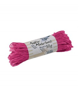 Ráfia natural Rosa 50g