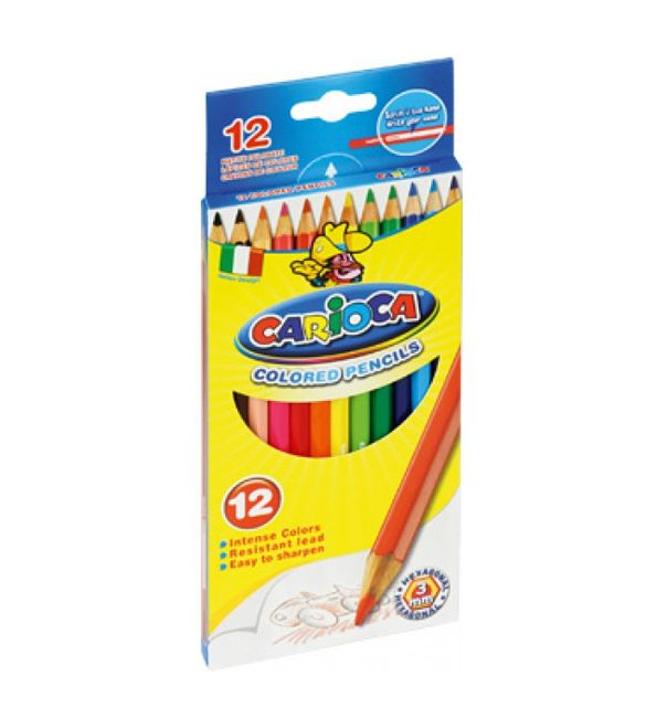 Lápis de cor carioca 12 Uni
