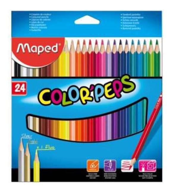 LÁPIS DE COR Maped 24 CORES